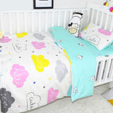 7 Pcs Baby Bedding Set Infant Safety Crib Bumper Toddler Cartoon Bedding Cover Set Children Cotton Soft Bed Sheet Pillowcase