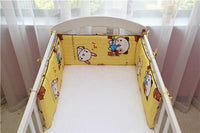 190 * 28CM Baby Bed Bumper Cotton Washable Baby Bedding  Bumper Print There Zipper  Around Guardrail Crib Cot Baby Bed Bumper