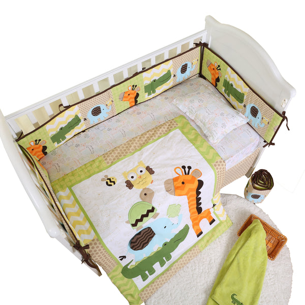 cute new manufactured competitive price embroidery 4 piece baby bedding set
