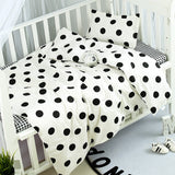 3pcs/set Cartoon Printed Cirb Bedding Set Baby Bed Sheet Pillowcase Quilt Cover Bed Kit Lovely Infant Bedding Suit Cotton Sheet