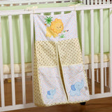 Pink flowers Printed Cotton Baby Bedding Sets Cot Hanging Storage Bag Bottles Diaper Bag Large Miscellaneously Storage Bag