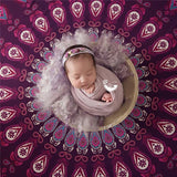 HOT!Baby Photography Backdrop Blanket Round Newborn Bebe Photo Props Background National Style baby swaddle Newborn wrap