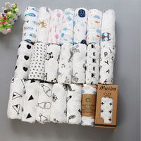 Baby Summer 100% Muslin Cotton Duble Layer Baby Towel Baby Swaddle Infant Wrap 120x120cm Newborn Blanket