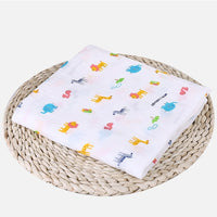 Soft Muslin 100% Cotton Baby Swaddles Cute Cartoon Newborn Blankets Bath Gauze Infant Wrap sleepsack Stroller cover Play Mat
