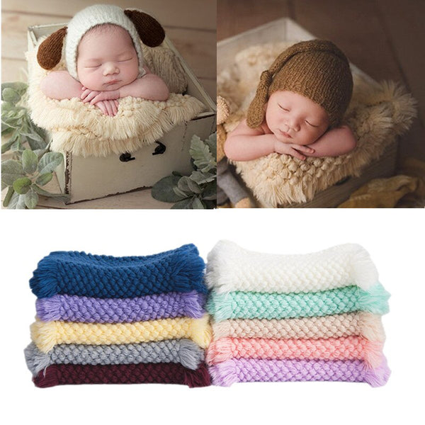 10 Colors Soft Baby Blanket Newborn Photography Props Baby Knitted Swaddle Blankets 30X75cm