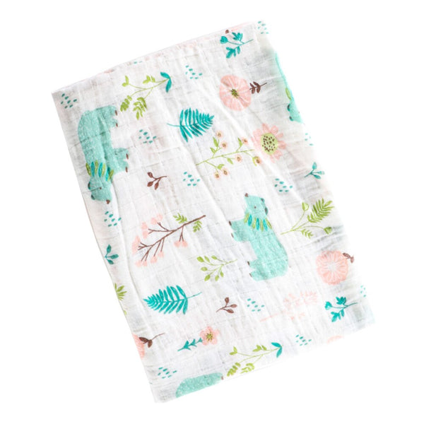 1 PCS Muslin Blankets Baby Cotton Unicorn Print Swaddles For Newborn Baby Photography Wrap Newborn Baby Stroller Cover 2 Layers