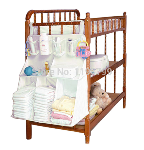 Convenient Baby Bed of Head Bag Baby Diaper Large Miscellaneously Storage Bag Bedding Oragenizer TRQ0010