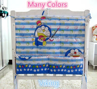 Promotion! Cartoon  Baby Bed Accessories 62*52cm Mesh Fabric Hanging Laundry Storage Bag,Crib Bedding Set