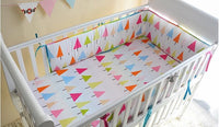 200*28 CM Baby Bed Bumper One Piece Anti-collision Cotton Prints Baby Cot Bumper Infant Filling Baby Bed Bumper Bedding