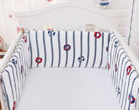 180*28 cm Baby Bed Bumper Soft Breathable Baby Bed Crib Bumper Cotton Cartoon Washable Newborn Baby Bed Bumper Bedding