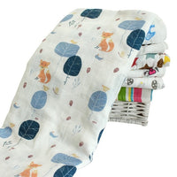 Kids Newborn Baby Swaddling Blanket Infant Cotton Comfortable Muslin Swaddle Towel 120*120cm