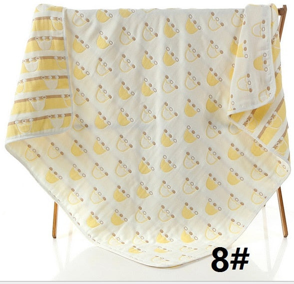 60*80cm Baby Blankets Newborn Baby Swaddle Wrap Soft Muslin Cotton 6 Layers Thick Baby Bedding Receiving Blankets Baby Wraps
