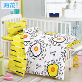 3 pcs/set Baby bedding set crib bed linings included pillowcase flat sheet duvet cover Forest Animal pattern design for baby kid