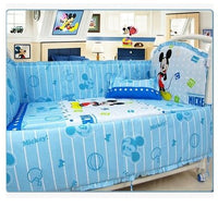 Bedding Newborn Bedding set Baby Cartoon Kids Crib Bed Sheets 100% Cotton Bedding Baby Bedclothes w/ Pillow Bumpers Mattress