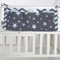Cotton Baby Bed Hanging Storage Bag Newborn Crib Organizer Toy Diaper Pocket for Crib Bedding Set Accessories bed is surrounded