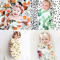 Organic Cotton Floral Swaddle Muslin Blanket Swadding Towels Wrap Kids Newborn Baby Girls Boy Beding Swaddle Blanket 0-3M