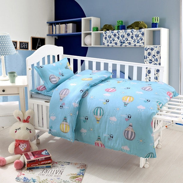3Pcs Baby Bedding Set Cotton Crib Sets Baby Cot Set Including Quilt Cover Pillowcase mattress cover Children Bed Sheet Bedspread