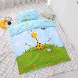 3pcs Baby Children Bedding Set Pure Cotton Kids Quilt Cover Bed Sheets Baby Crib Bedding Set Kindergarten Quilt with Pillowcase