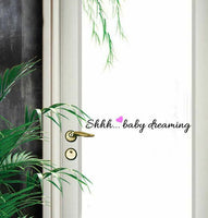 """Shhh... Baby Dreaming"" Wall Art Quotes Baby Nursery Decor Stickers Vinyl Decal"