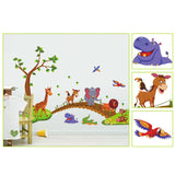 Removable Cartoon Animals Wall Decal Stickers Kids Baby Nursery Room Decoration
