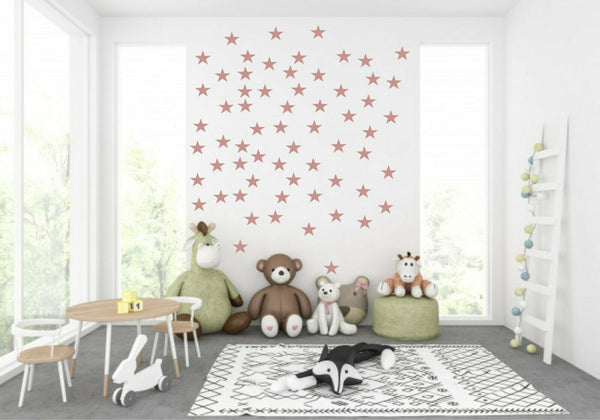 Stars ROSE GOLD Stickers Decal Wall Child Vinyl Decor Spots Baby Nursery