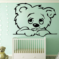 Baby Bear Animal Wall Sticker Home Decoration Accessories Self Wall Stickers