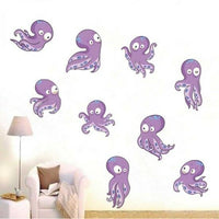 Baby Octopus Art Removable Wall Stickers Kids Room Decor Decal 85 x 130 cm