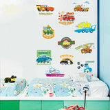 Retro Baby Disney Cars Wall Stickers Kids Nursery Boys Decor Vinyl Decal Gift