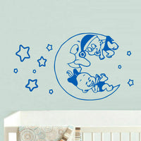 Wall Decal Vinyl Sticker Decor Nursery Kids Baby Funny Moon Crescent Stars Z741