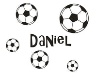 Wall Stickers custom baby name Soccer ball vinyl decal decor Nursery kids