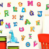 Alphabet Animals Self-Adhesive Stickers Baby Kids Bedroom Wall Decor Wall Art