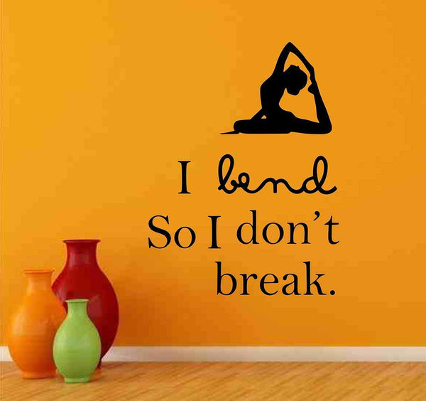 Yoga Pose Wall Stickers Baby Room Decals Art Bedroom Vinyl Decor