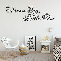 Pretty Big Dream Phrase Wall Stickers Art Wallpaper Baby Kids Rooms Decor Decals