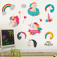 Unicorn Cartoon Removable Wall Stickers Nursery Decal Kids Baby Decor Art Mural