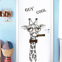 Cartoon Giraffe Wall Sticker Animal Art Decal Decor Baby Kid Nursery Bedroom DIY