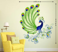 Beautiful Peacock Vinyl Kids Baby Home Decor Mural Wall Stickers Decal Removable