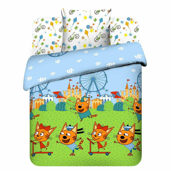 Три кота three cats постельное белье Nursery Baby Bedding Set три кота в парке