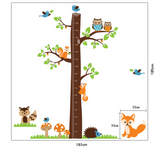 Height Growth Chart Tree Animal Wall Sticker Decal Nursery Baby Bedroom Decor UK