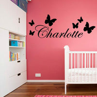 Personalized Name Nursery Wall Stickers Vinyl Art Decals babys room decoration