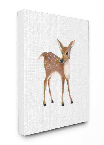 (canvas, 30x40) - The Kids Room by Stupell Baby Deer Illustration XXL
