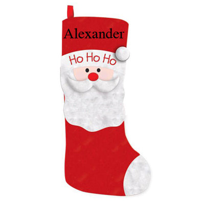 Xmas Creation Express Soft Fabric Stocking D Santa