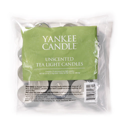 Yankee Candle Unscented Tealights - Bag Of 25