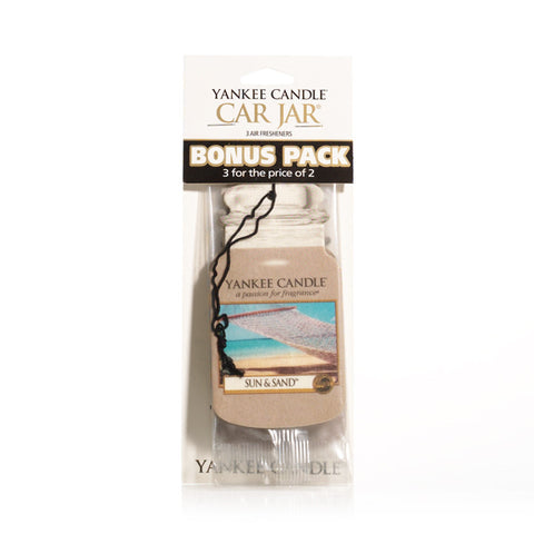 Yankee Candle Sun & Sand - Car Jar Bonus Pack