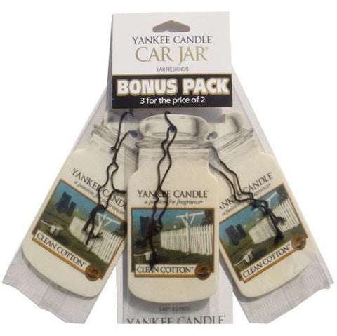Yankee Candle Clean Cotton  - Car Jar Bonus Pack