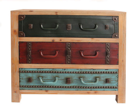 Flame Homeware Wide 3 Suitcase Drawer