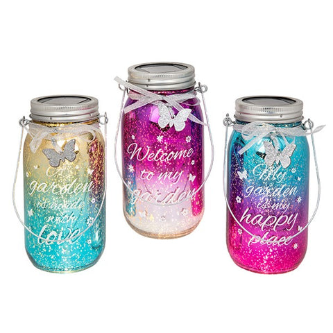 Firefly Garden Solar Message Jar