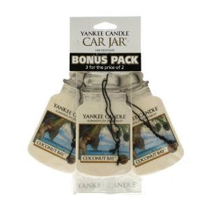 Yankee Candle Coconut Bay - Car Jar Bonus Pack