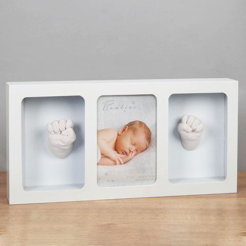 Bambino White Triple Photo Frame & Casting Kit