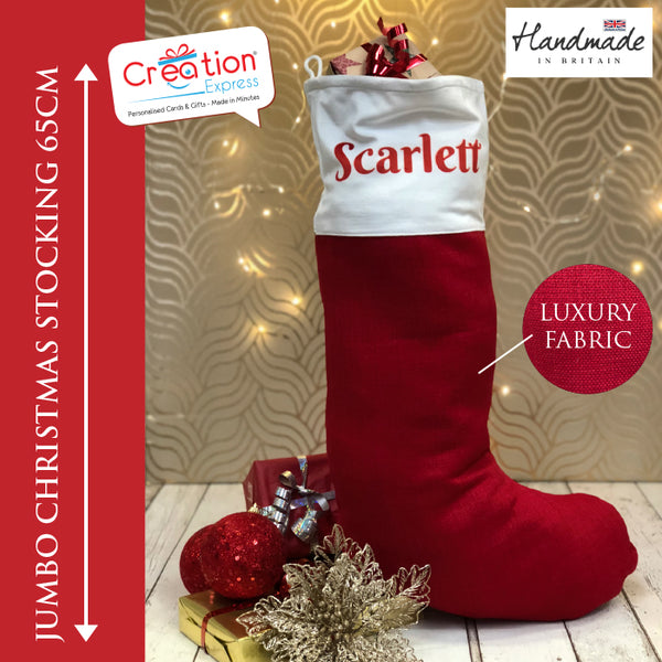 Personalised Xmas Jumbo Luxury Stocking