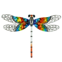 Handmade Painted Metal Dragonfly